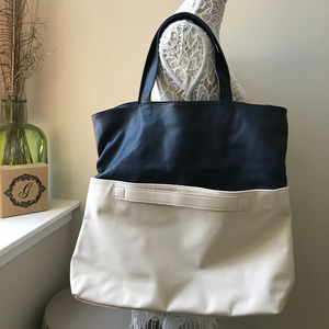 Forever 21 Colorblock Oversized Tote Bag